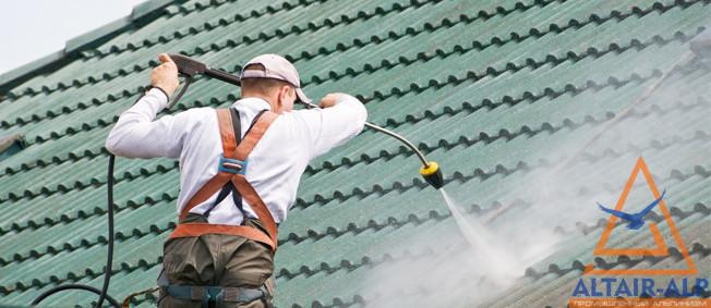 Покраска крыши дома своими руками